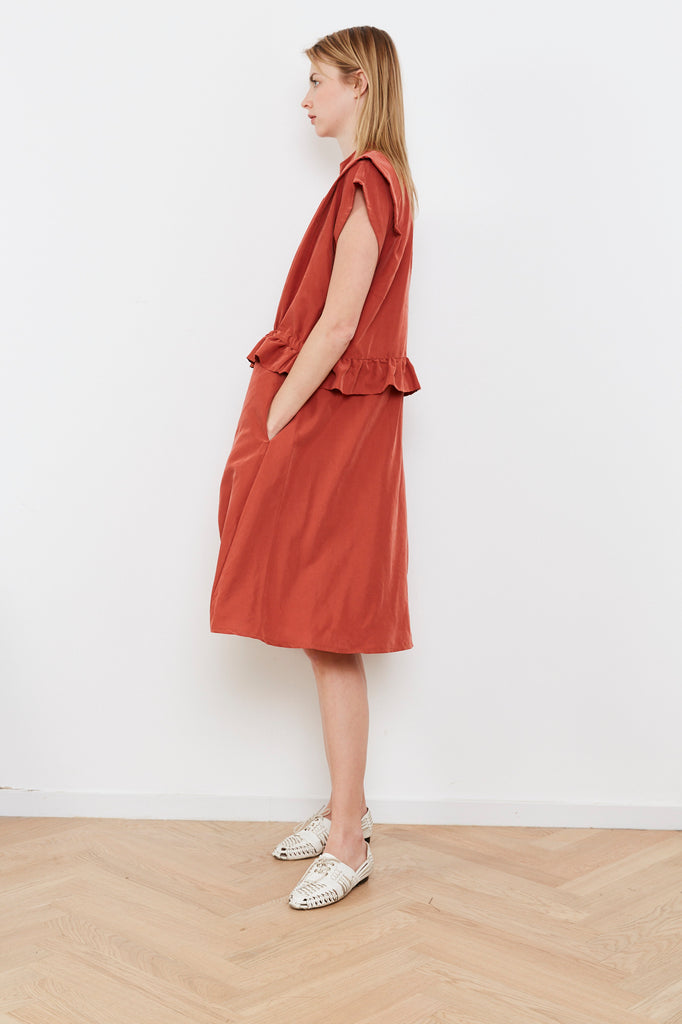 Summer 2020 - Lucca dress - Drawstring Waist dress - Red loam