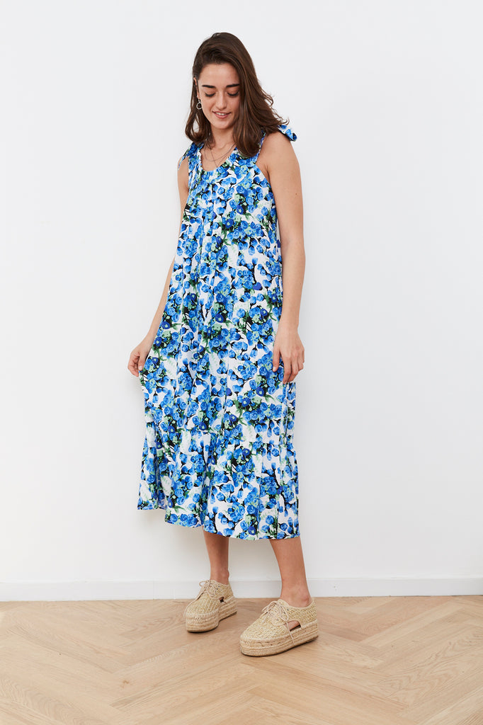 Summer 2020 - Troy dress - Blue flowers