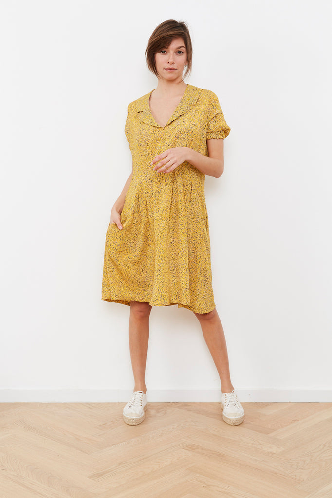 Summer dress- Bell 🔔 Dress - Yellow print