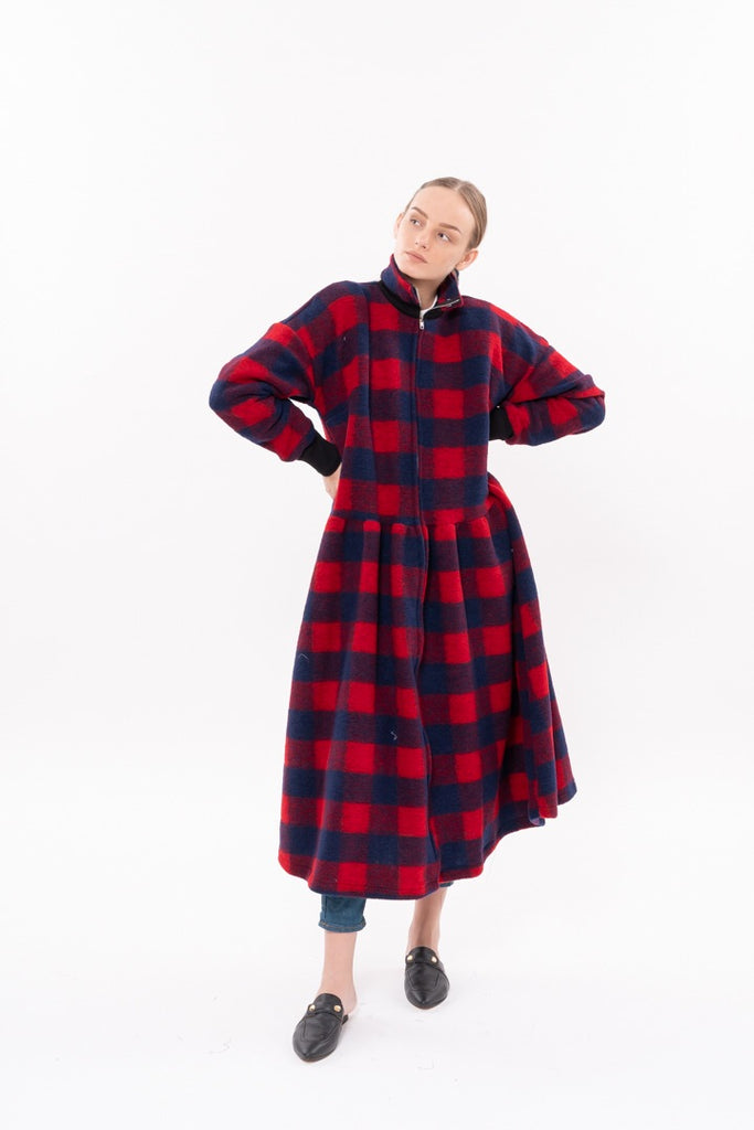 Winter 20 - Parsa Trench Coat - Red and Black checkered