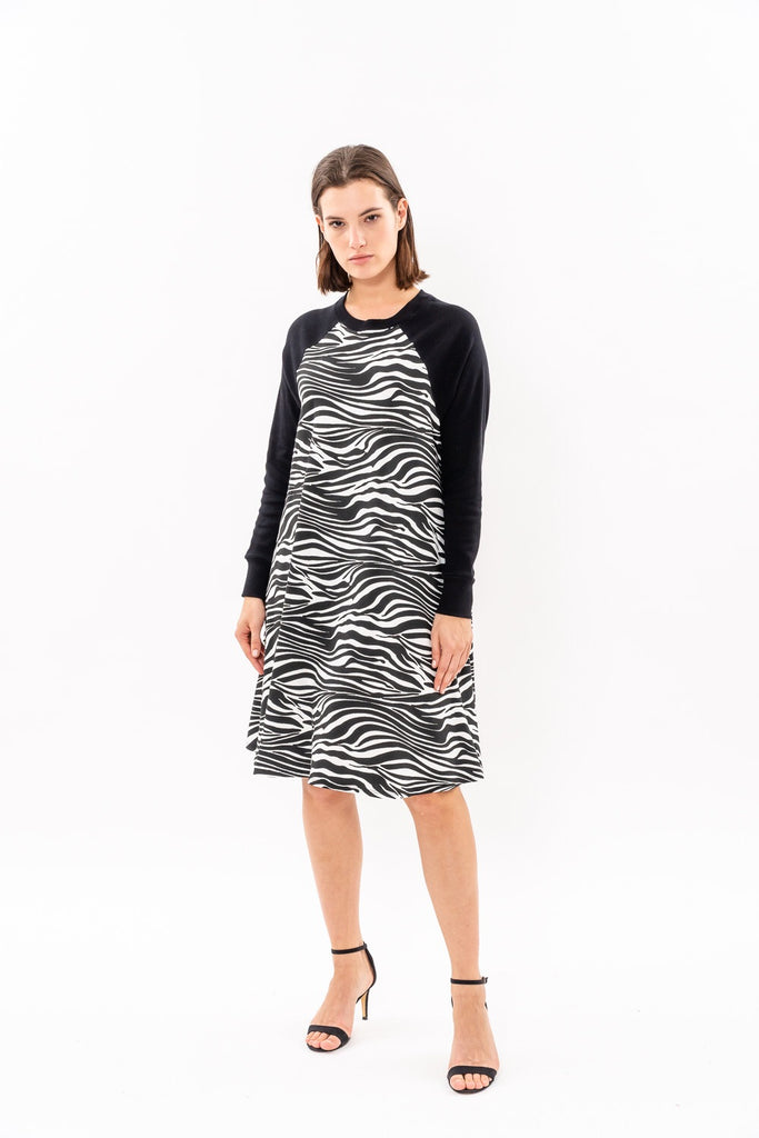 Swing Dress - Black and White (animal print) was 262$ now 164$