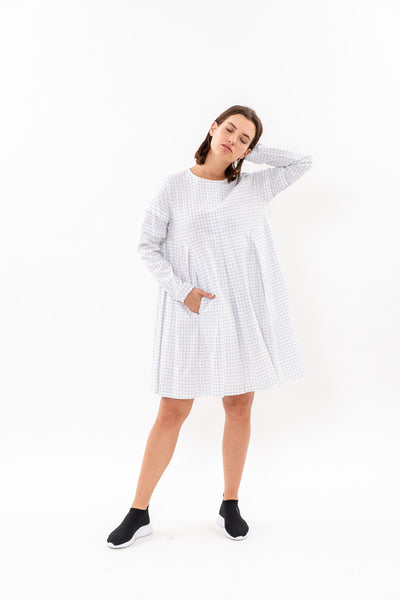 Winter 19 - Hanalle Dress - White checkered