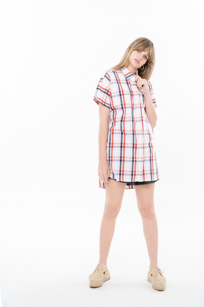 DOU COLLAR - PINK CHECKERED