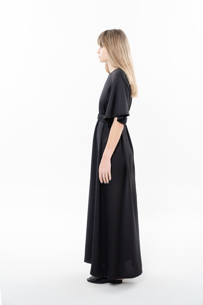 SPLIT DRESS - BLACK