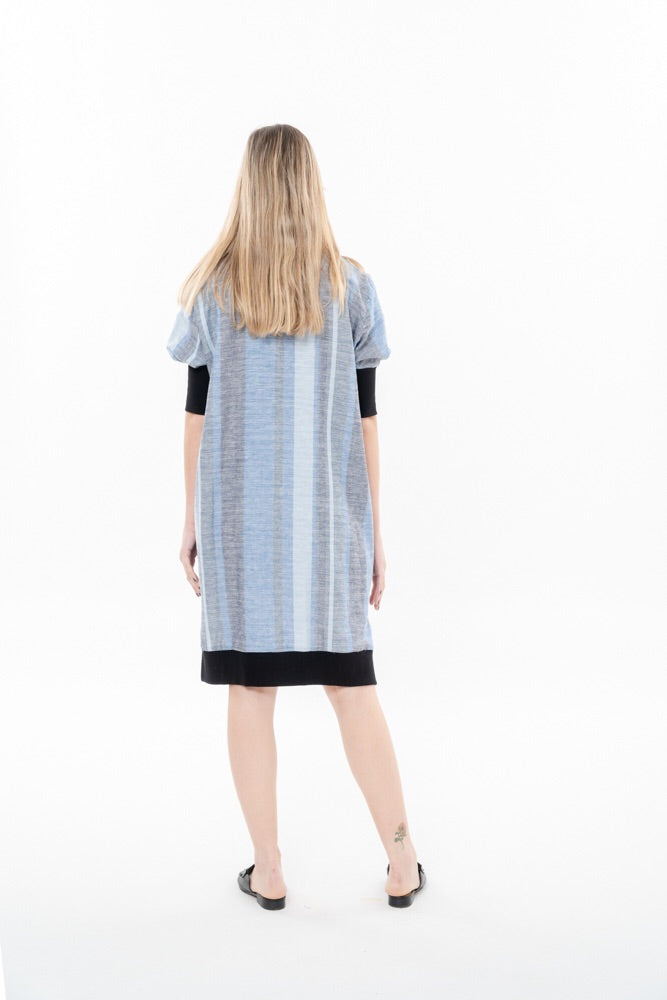 PABLO DRESS - BLUE STRIPES