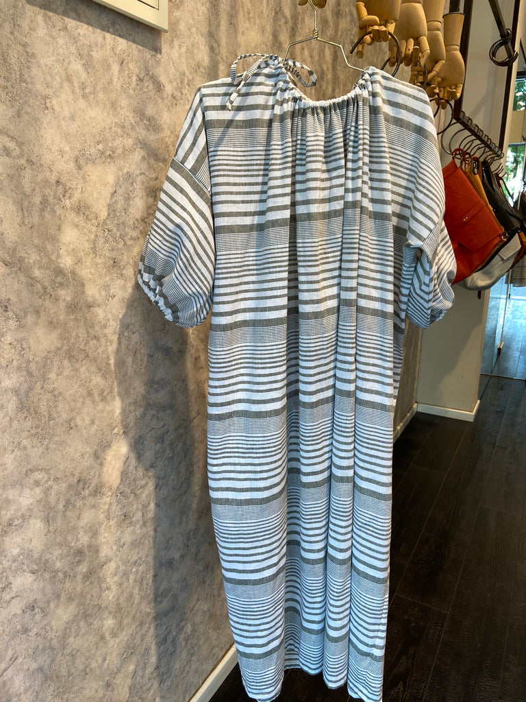 Summer 2020 - Sahara dress - olive tree stripes