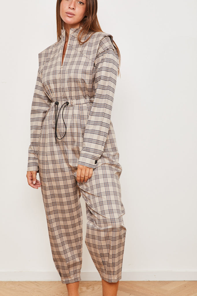 Winter 2021 - Cain Maxi Jumpsuit - Beige striped