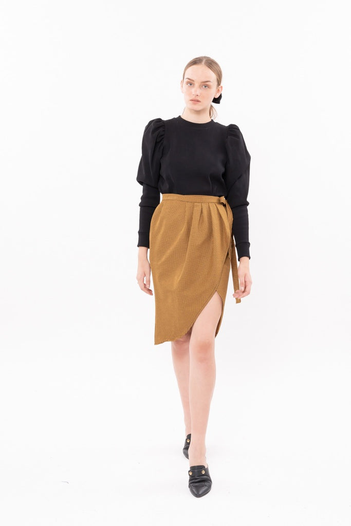 Winter 20 - Wrap Skirt - yellow