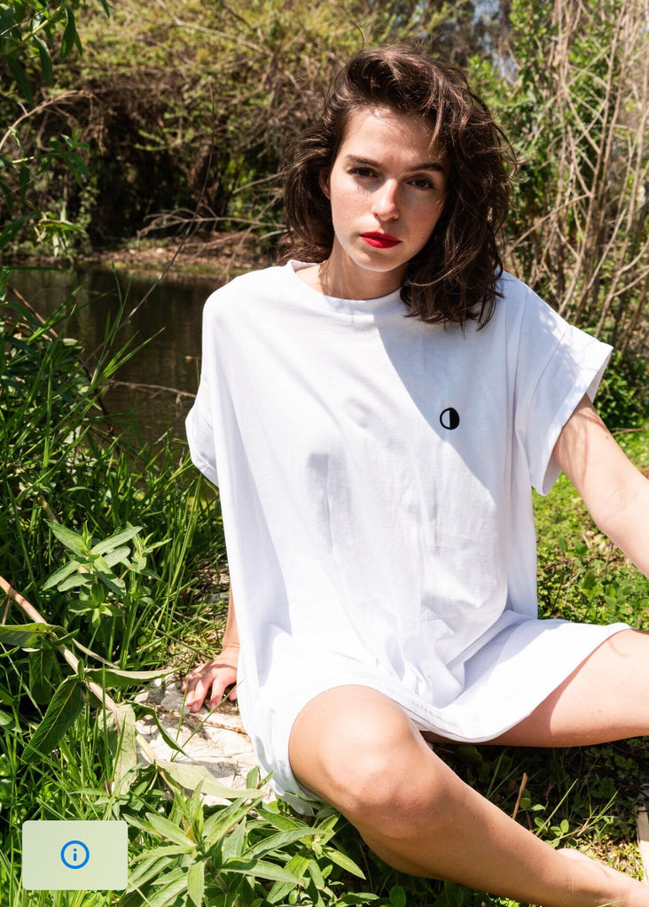 T-Shirt Dress with Moon embroidery