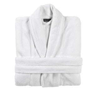 Super soft- White velvet/waffle bathrobe and custom name embroidery