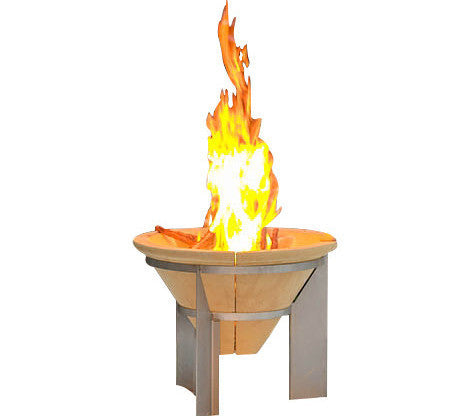 Denk Comfy Fire Pit - Hi-Tech Ceramic - 55cm Dia - Limited Offer FREE BBQ Grill!