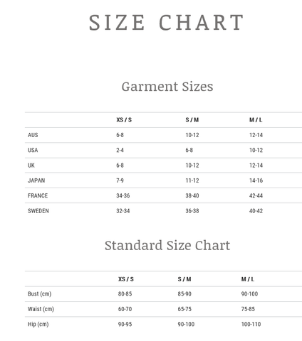 Little Miss Gypsy Sizing Chart
