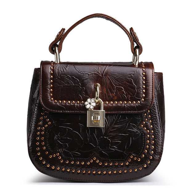 Genuine Leather Ladies Handbag
