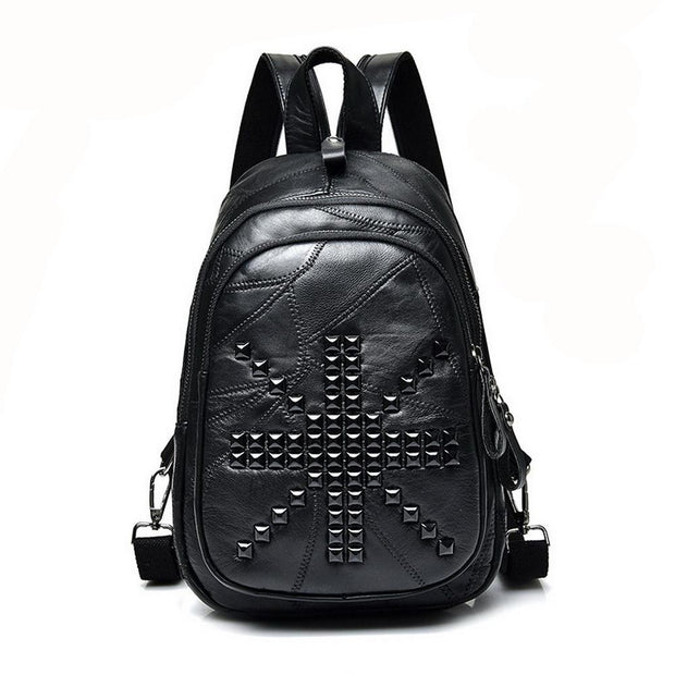 Rock Leather Back Pack Punk
