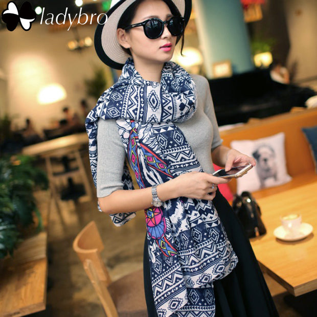 Printed Long Pashmina Cotton
