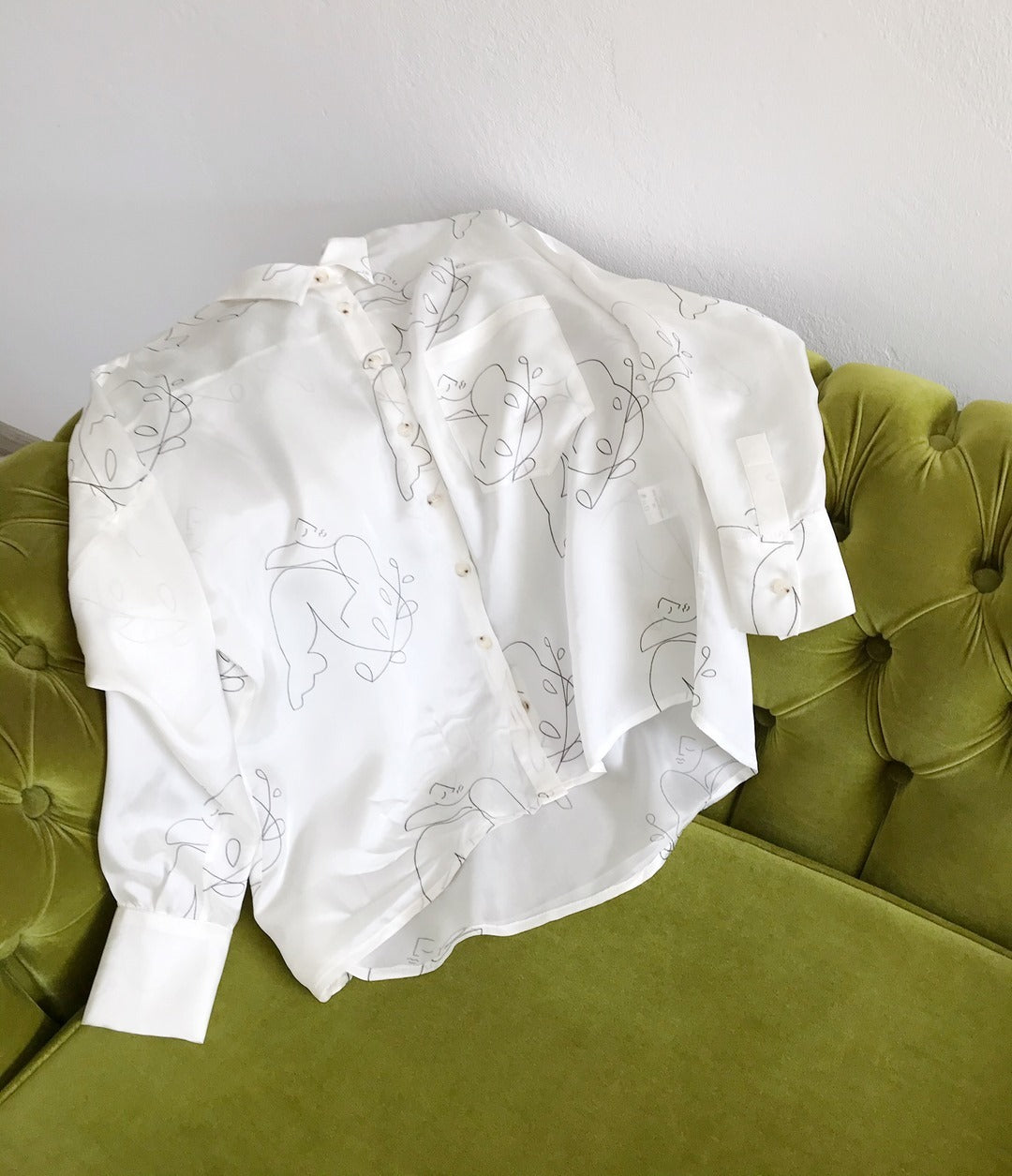 augusto blouse in white