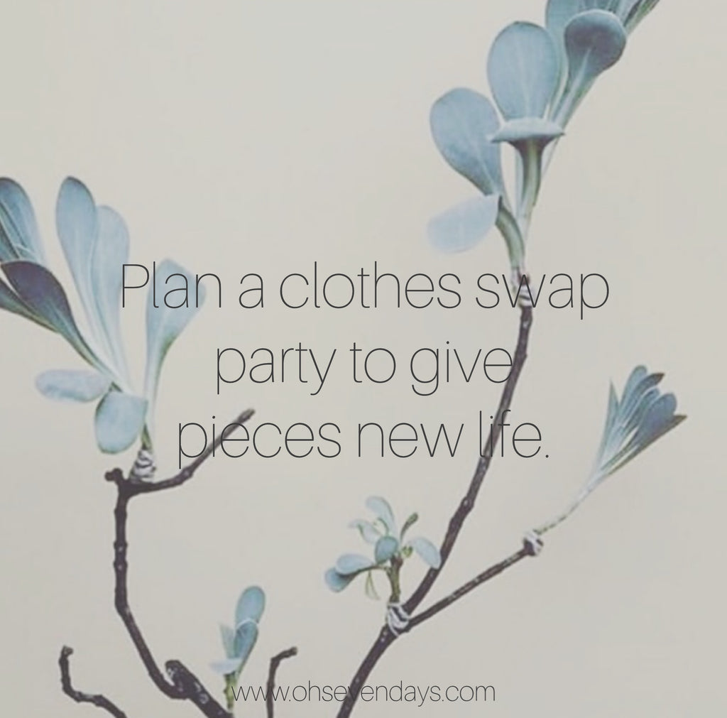 Sustainable clothes swap party