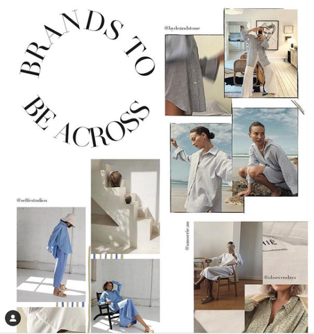 Moss Magazine, Instagram, Brands to be Across, collage, girls, shirts