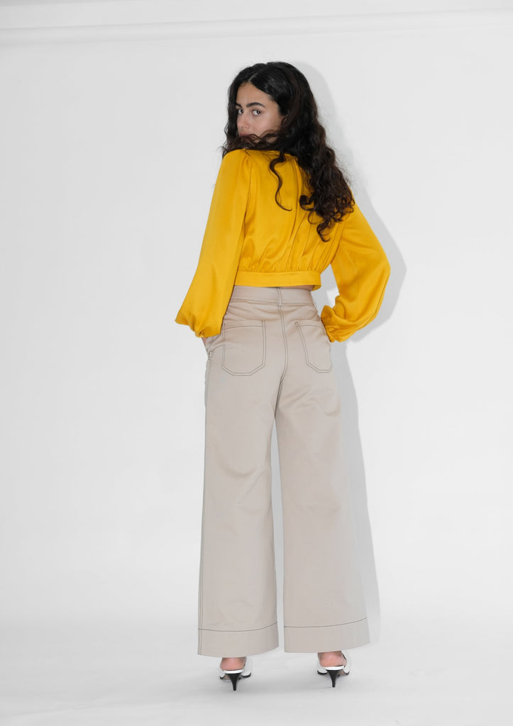 High Kick Trousers (Beige)