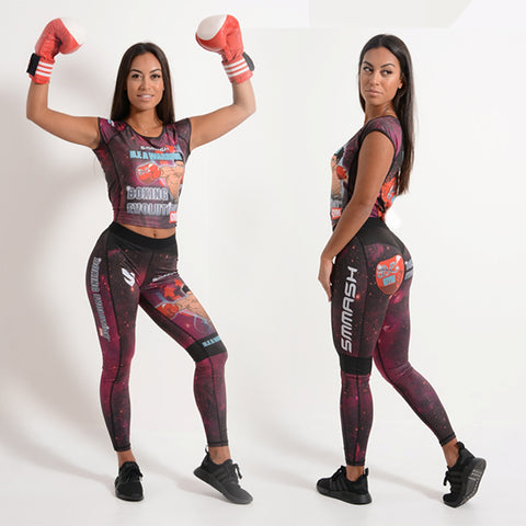 Boxing Evolution womens B.E A WARRIOR leggings