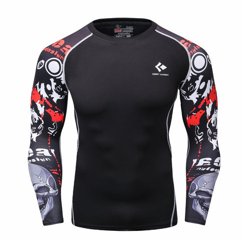 Men MMA graphic sleeve rashgaurd