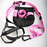 Workout strap suspension trainer with P3 Resistance Bands