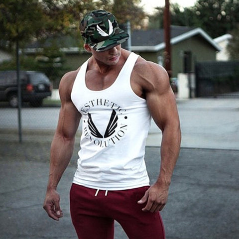 Mens Gymwings Bodybuilding Tank Top