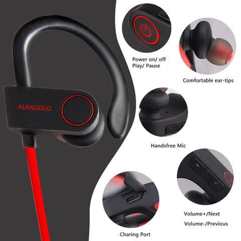 Wireless bluetooth sports ear phones