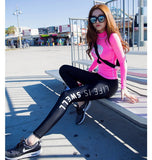 Womens 2 piece training set leggings and top
