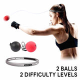 Boxing reflex and reaction training ball with 2 difficulty settings