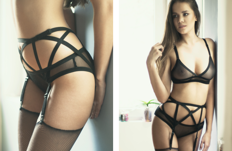 hot suspender belt harness soft bra