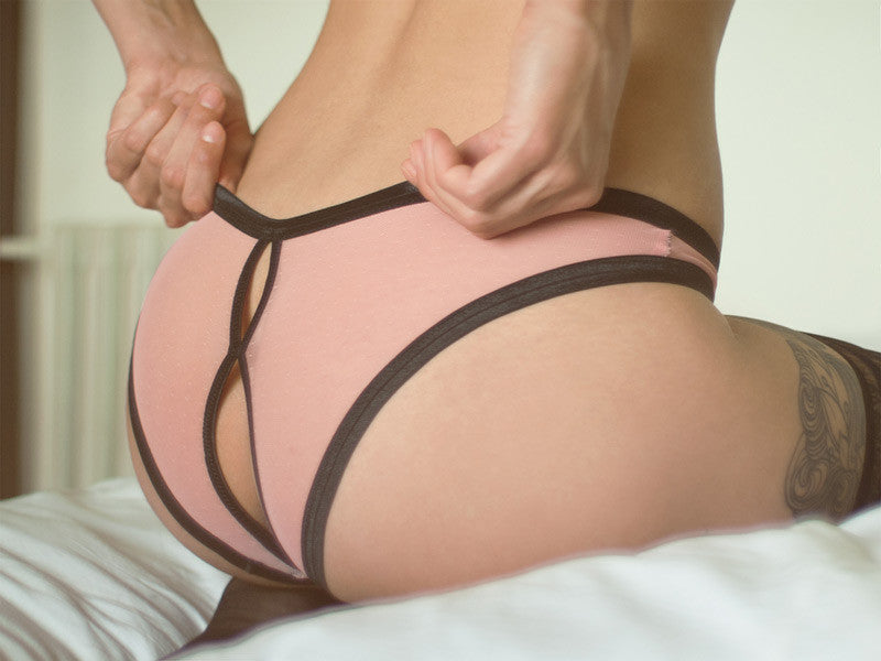 open back pink peek a boo knickers
