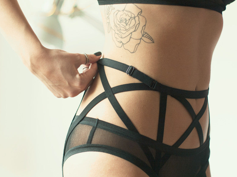 sexy lingerie erotic panties suspender belt