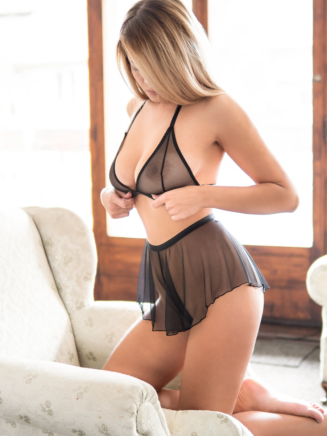 'Eustoma' Lingerie Set