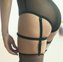 high waisted knickers black mesh lingerie sheer panties suspender clips