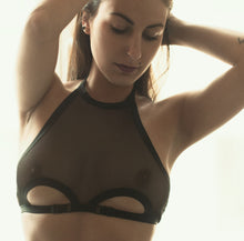 sexy halter sheer bralette soft bra under breasts straps alternative lingerie