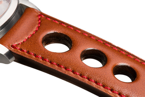 Sporty Camel Leather Red