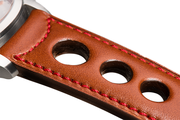 Sporty Camel-Coloured Calfskin Red