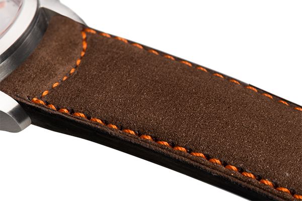 Classic Dark Brown Nubuck Orange