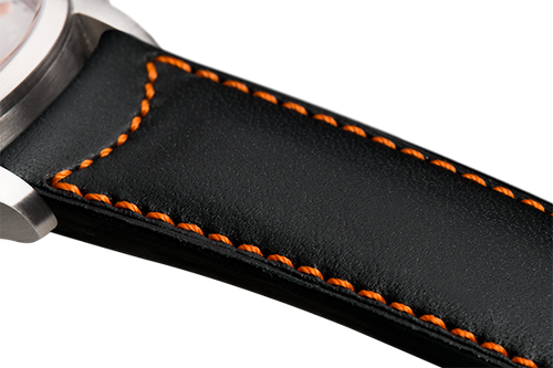 Classic Black Leather Orange