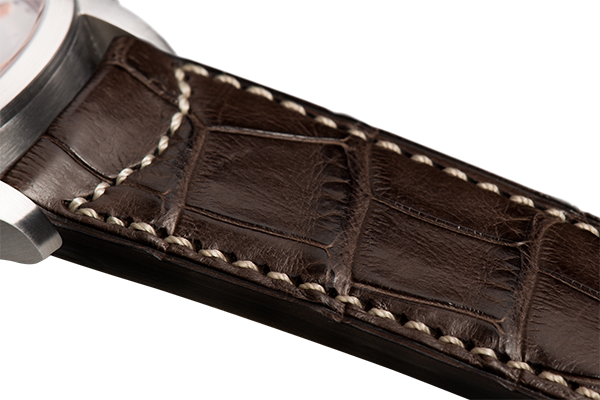 Classic Dark Brown Alligator Natural