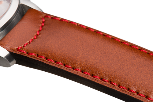 Classic Camel-Coloured Calfskin Red