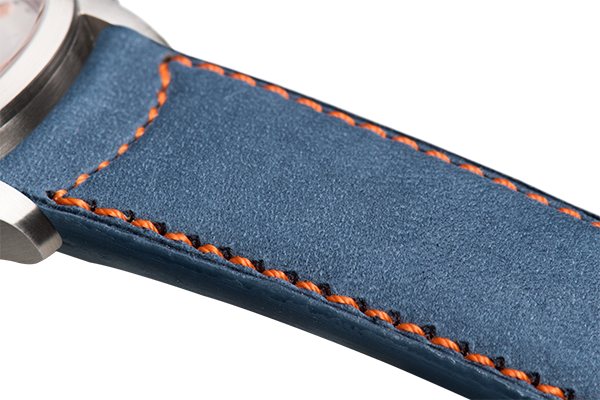 Classic Blue Nubuck Orange