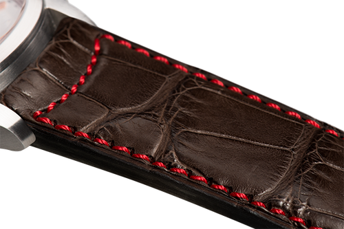 Classic Dark Brown Alligator Red