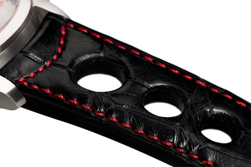 Sporty Black Alligator Red