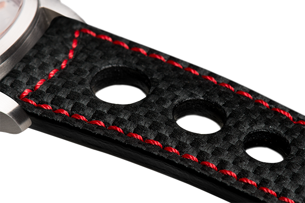 Sporty Black Carbon Fiber Red
