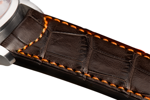Classic Dark Brown Alligator Orange