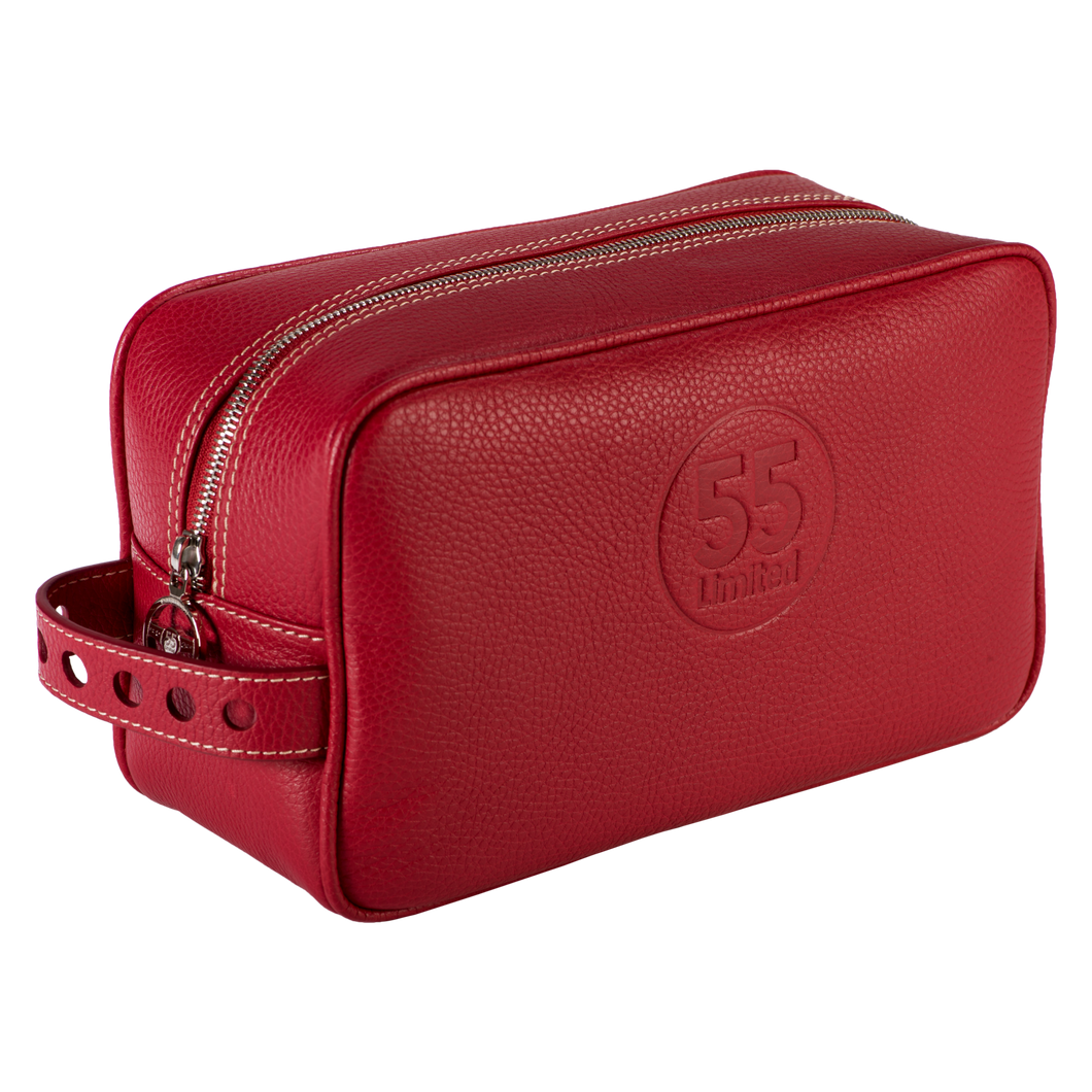 Dopp Kit: Red - Natural