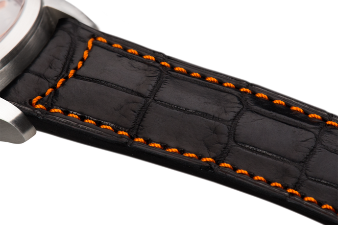 Classic Black Alligator Orange