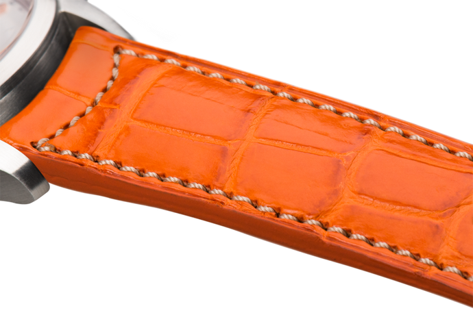 Classic Orange Alligator Natural